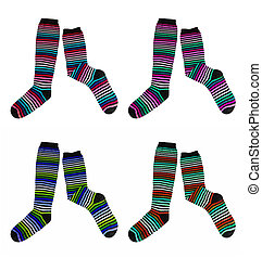 cor, meias