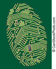 cor, motherboard, impressão digital