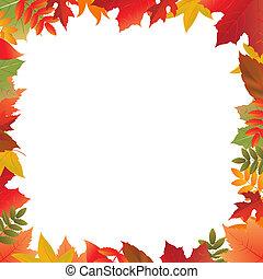 cor, outono, quadro