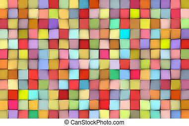 cor, padrão, abstratos, superfície, misturado, azulejo, fundo