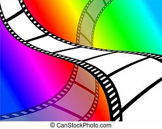 cor, papel parede, película