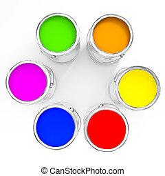 cor, pintura, fundo