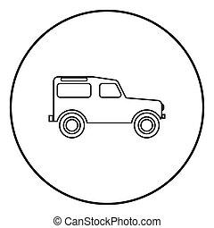 cor, pretas, veículo, círculo, redondo, estrada, ícone