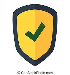 cor, protetor, silueta, escudo