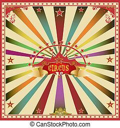 cor, quadrado, circo, cartão