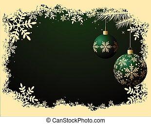 cor, retro, fundo, -, natal