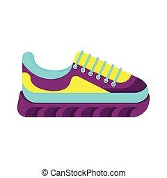 cor, sneakers, na moda
