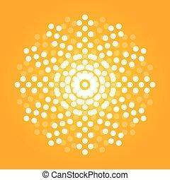 cor, sol, ilustração, artisticos, vibrante, laranja