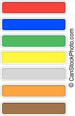cor, teia, botões, com, branca, borda