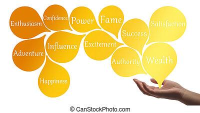cor, terapia, -, ouro, cura, energia