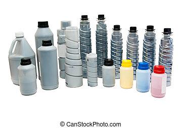 cor, toners, (powder), para, impressoras
