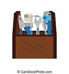 cor, toolbox, silueta