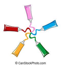 cor, tubos