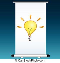 cor, vetorial, projetor, ilustração, idéia