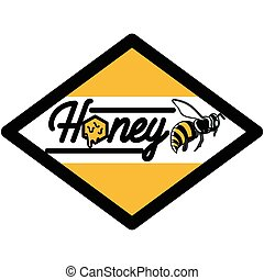 cor, vindima, mel, emblema