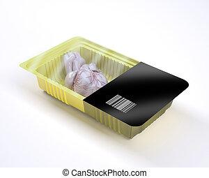 coração, órgão, alimento, dentro, embalagem, human