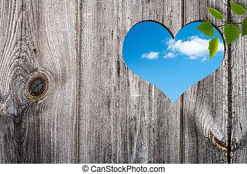 coração, abstratos, fundos, forma, desenho, seu