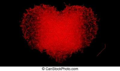 coração, abstratos, loppable, forma