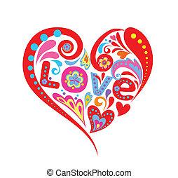 coração, abstratos
