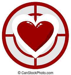 coração, alvo