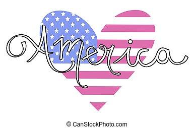 coração, américa