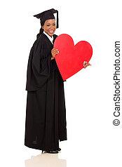 coração, americano, graduado, forma, apresentando, femininas, afro