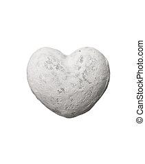 coração amoldou, pedra