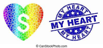 coração, amor, angústia, pontilhado, watermark, preço, espectro, vetorial, meu, ícone