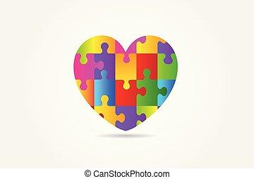 coração, amor, autism