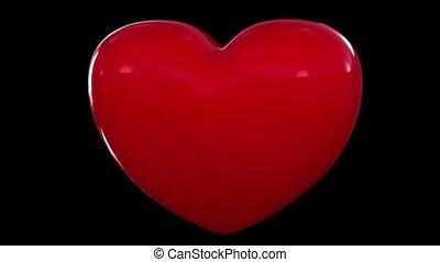 coração, amor, batendo, pulso, valentine, sexo, aniversário, par, romance, namorando, volta, 4k