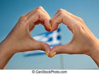 Coração, Amor, gesto, Grécia