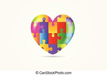 coração, autism