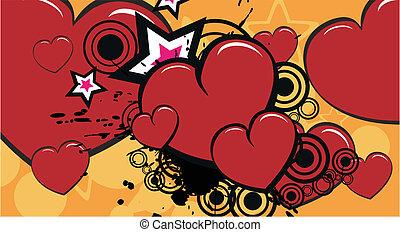 coração, background3, caricatura
