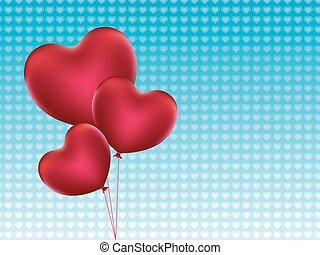 coração, balões, dado forma