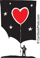 coração, balloon