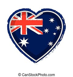 coração, bandeira, austrália, dado forma