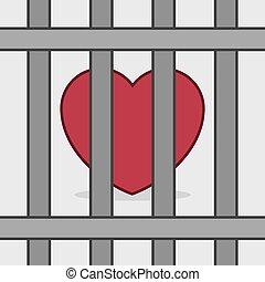 coração, barras