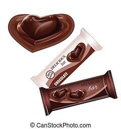 coração, biscoito, barzinhos, líquido, lanches, alimento, candy., bolachas, isolado, doce, chocolate, embalagem, experiência., hóstia, vetorial, desenho, doces, branca, barzinhos