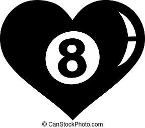 coração, bola, oito, piscina