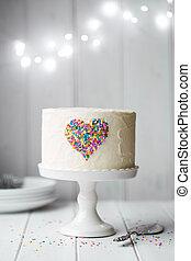 coração, bolo