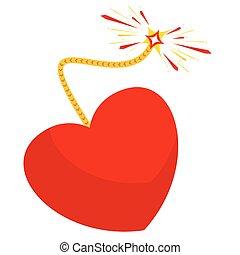 coração, bomba, semelhante