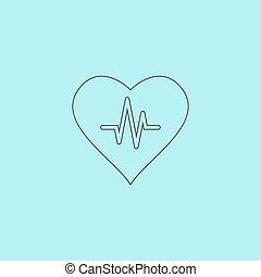 coração, cardiograma
