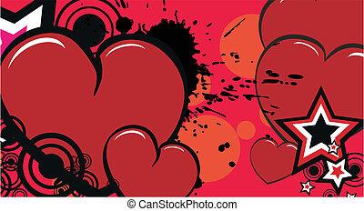 coração, caricatura, background12