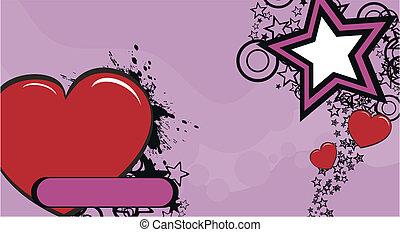 coração, caricatura, background2
