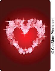 coração, cartão vermelho