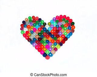 coração, colorido