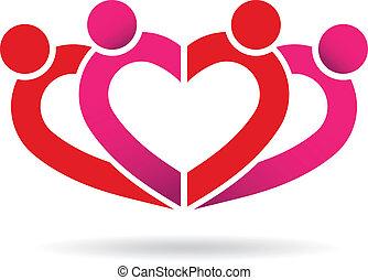 coração, comunidade, pessoas