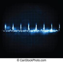 coração controlar, taxa
