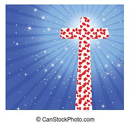Coração, crucifixos