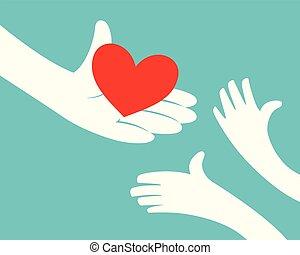 coração, dar